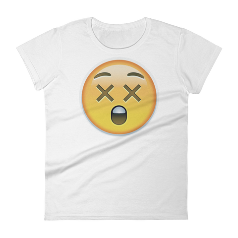 Women's Emoji T-Shirt - Astonished Face-Just Emoji