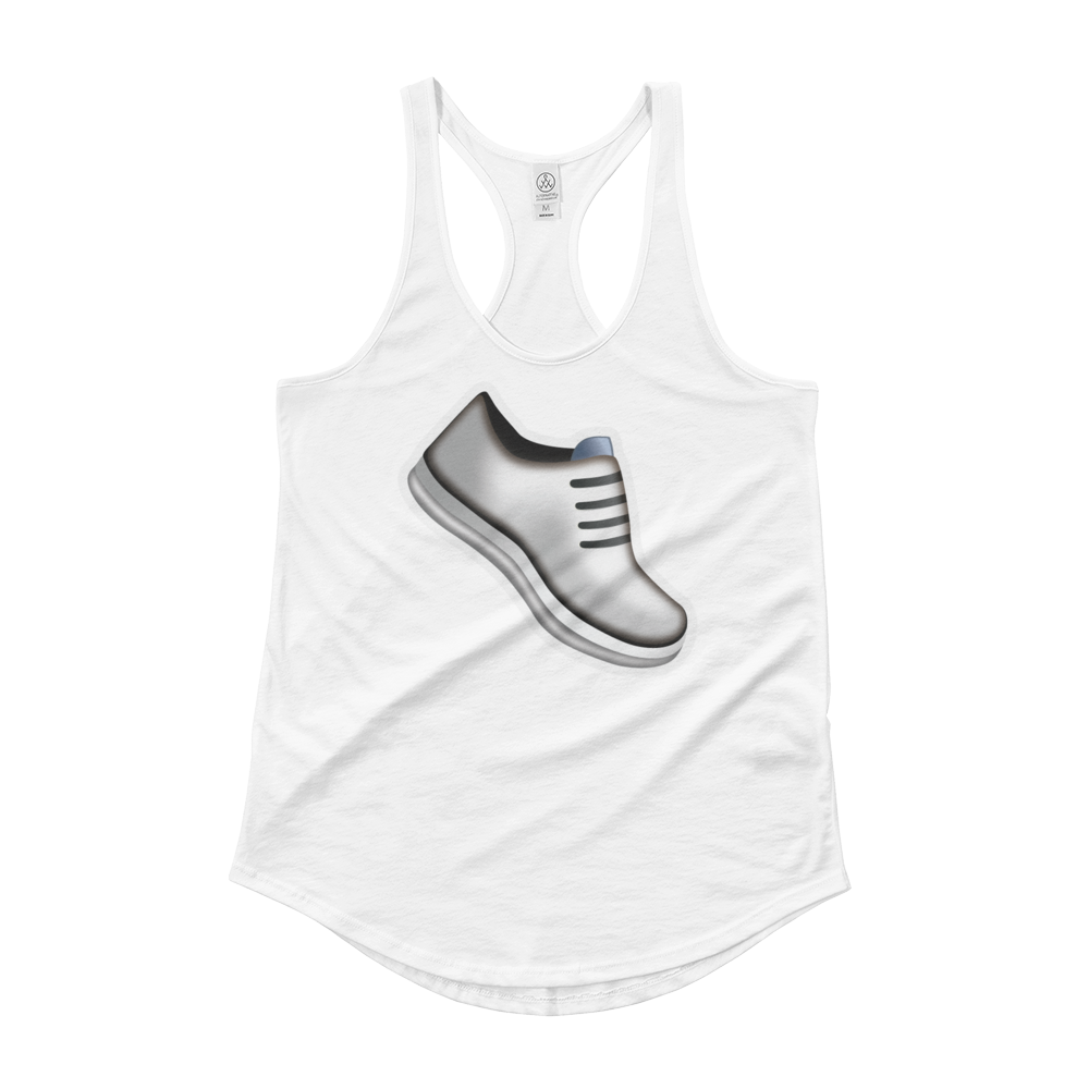 Women's Emoji Tank Top - Athletic Shoe-Just Emoji