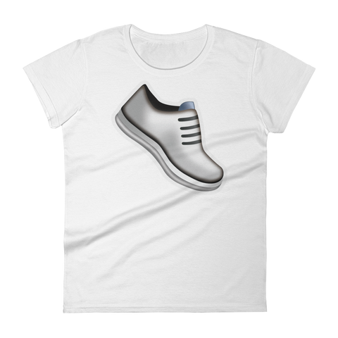 Women's Emoji T-Shirt - Athletic Shoe-Just Emoji