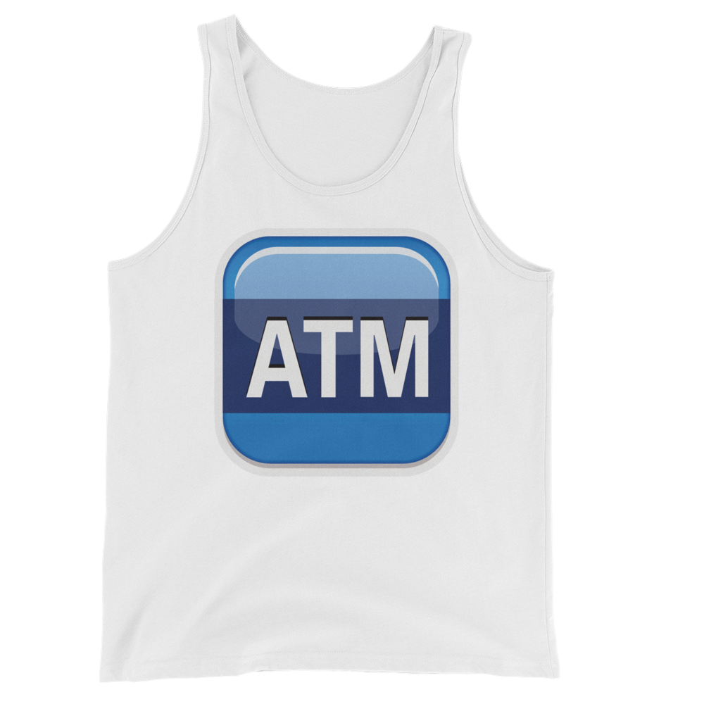 Men's Emoji Tank Top - Automated Teller Machine-Just Emoji