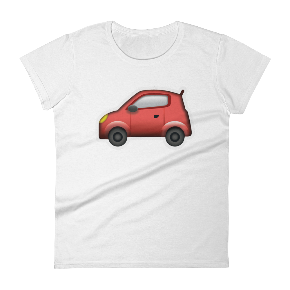 Women's Emoji T-Shirt - Automobile-Just Emoji