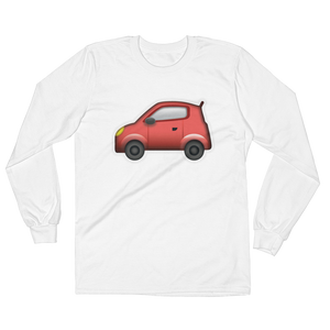 Men's Emoji Long Sleeve T-Shirt - Automobile-Just Emoji