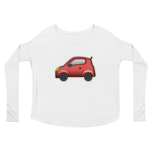 Women's Emoji Long Sleeve T-Shirt - Automobile-Just Emoji