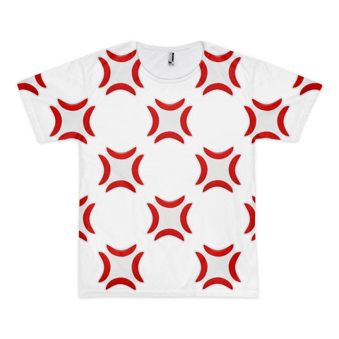 All Over Emoji T-Shirt - Anger Symbol-Just Emoji