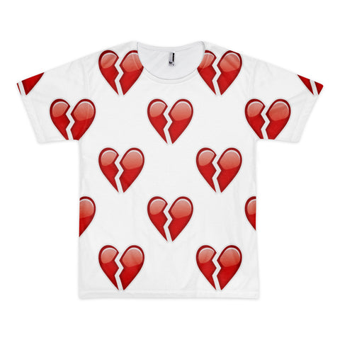 All Over Emoji T-Shirt - Broken Heart-Just Emoji