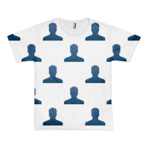 All Over Emoji T-Shirt - Bust In Silhouette-Just Emoji