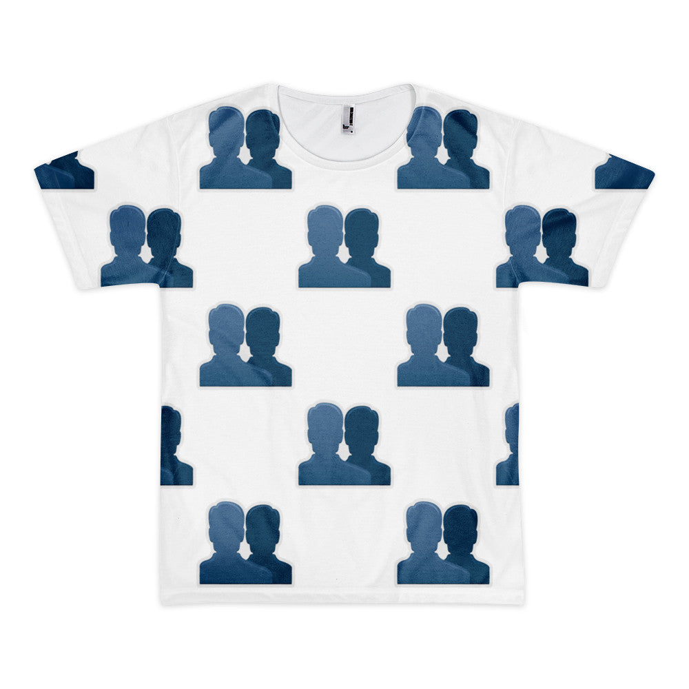 All Over Emoji T-Shirt - Busts In Silhouette-Just Emoji