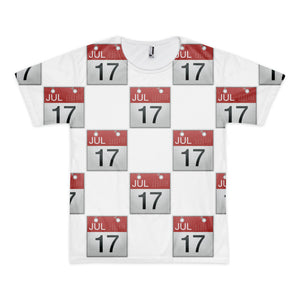All Over Emoji T-Shirt - Calendar-Just Emoji