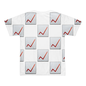 All Over Emoji T-Shirt - Chart With Upwards Trend-Just Emoji
