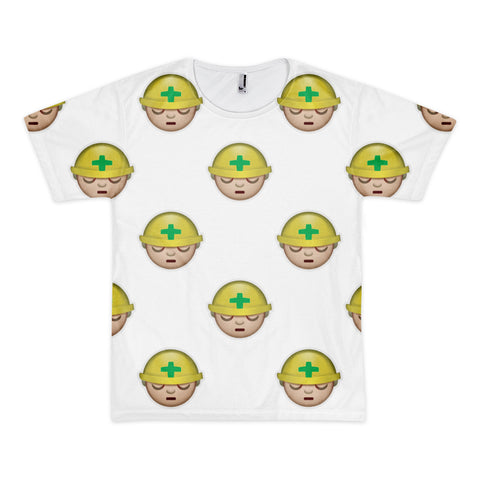 All Over Emoji T-Shirt - Construction Worker-Just Emoji