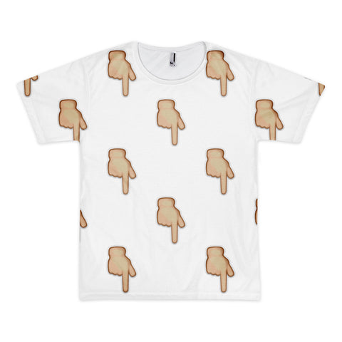 All Over Emoji T-Shirt - Down Pointing Backhand Index-Just Emoji