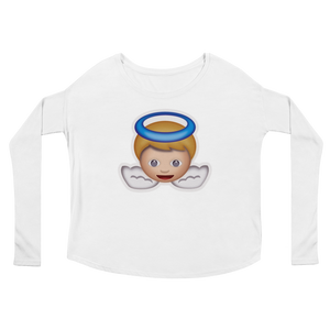 Women's Emoji Long Sleeve T-Shirt - Baby Angel-Just Emoji