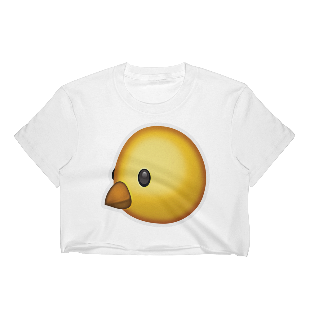 Emoji Crop Top T-Shirt - Baby Chick-Just Emoji