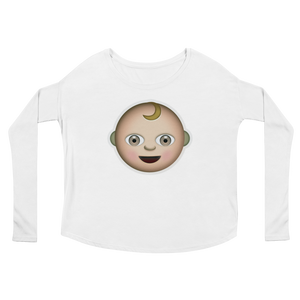 Women's Emoji Long Sleeve T-Shirt - Baby-Just Emoji