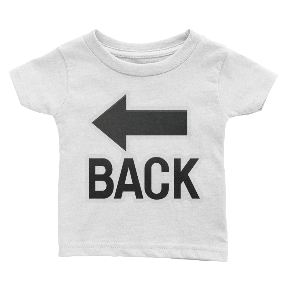 Emoji Baby T-Shirt - Back With Leftwards Arrow Above-Just Emoji