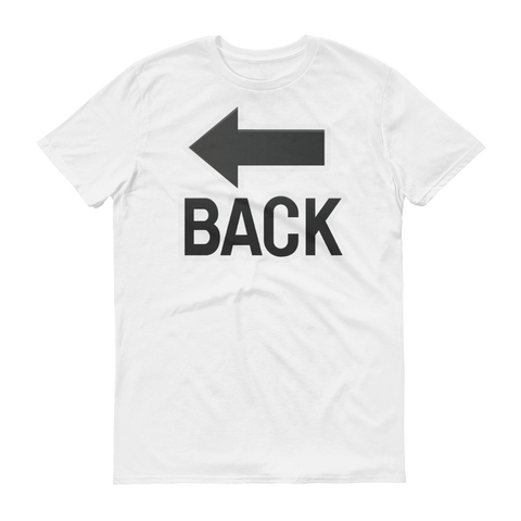 Men's Emoji T-Shirt - Back With Leftwards Arrow Above-Just Emoji