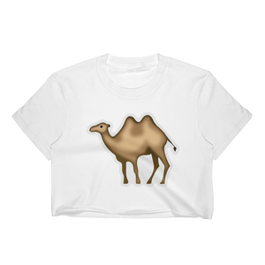 Emoji Crop Top T-Shirt - Bactrian Camel-Just Emoji