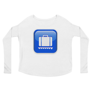 Women's Emoji Long Sleeve T-Shirt - Baggage Claim-Just Emoji