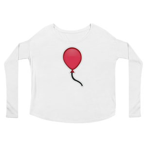 Women's Emoji Long Sleeve T-Shirt - Balloon-Just Emoji