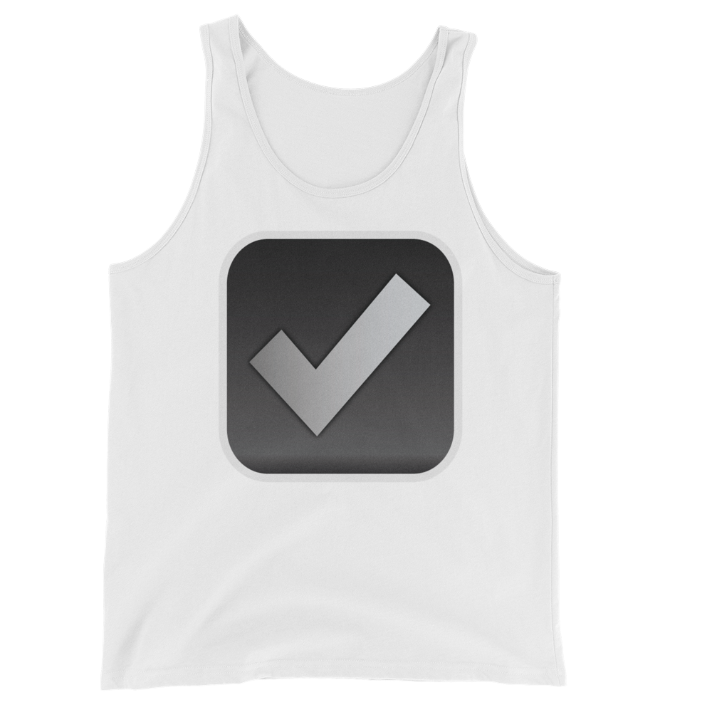 Men's Emoji Tank Top - Ballot Box With Check-Just Emoji
