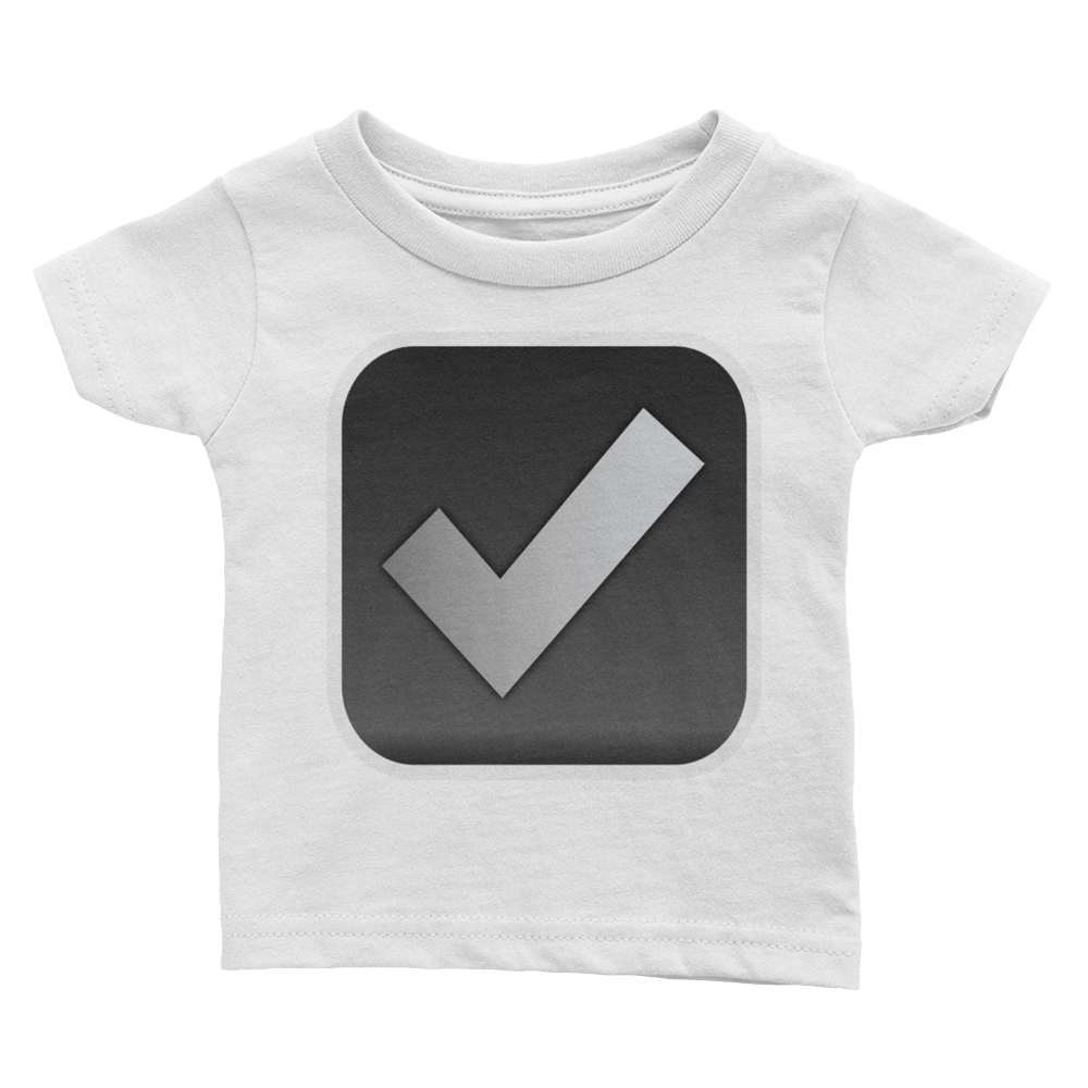 Emoji Baby T-Shirt - Ballot Box With Check-Just Emoji