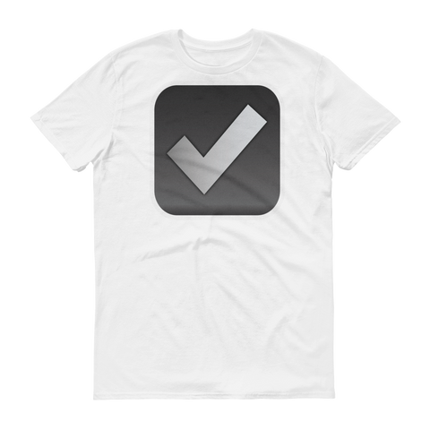 Men's Emoji T-Shirt - Ballot Box With Check-Just Emoji