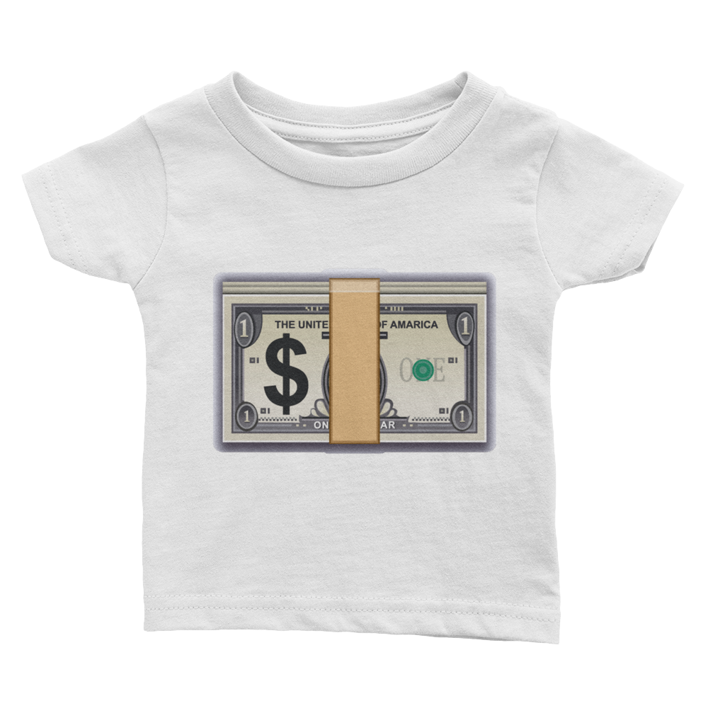 Emoji Baby T-Shirt - Banknote With Dollar Sign-Just Emoji