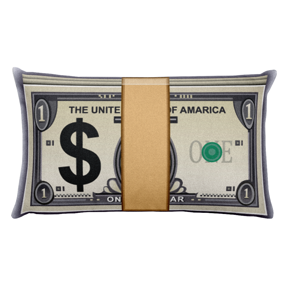 Emoji Bed Pillow - Banknote With Dollar Sign-Just Emoji