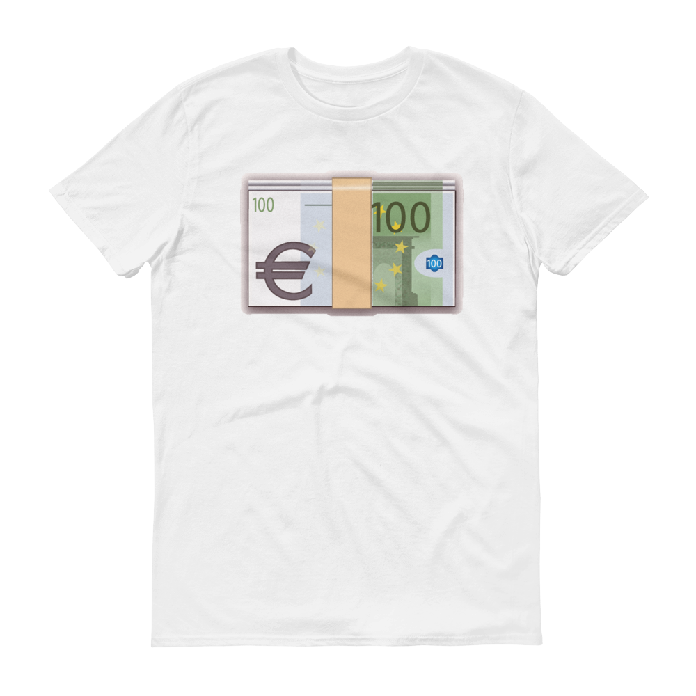 Men's Emoji T-Shirt - Banknote With Euro Sign-Just Emoji
