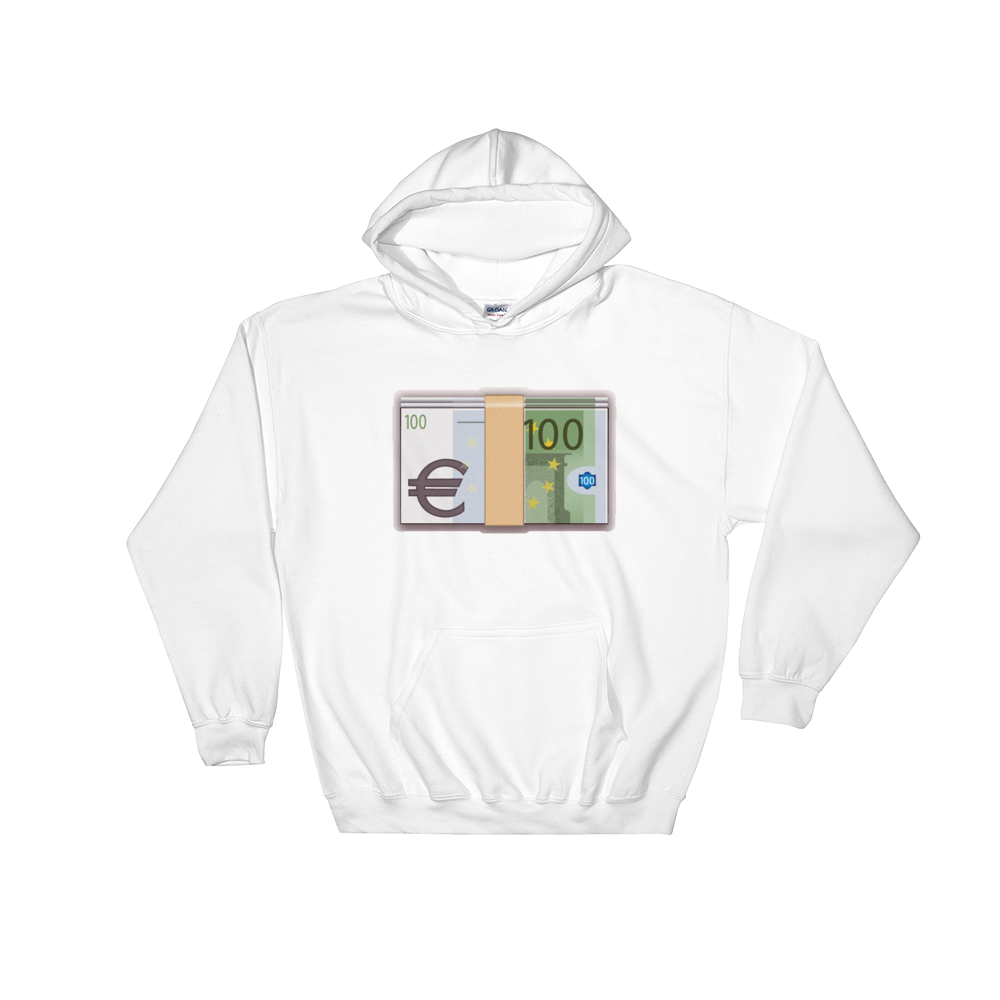 Emoji Hoodie - Banknote With Euro Sign-Just Emoji