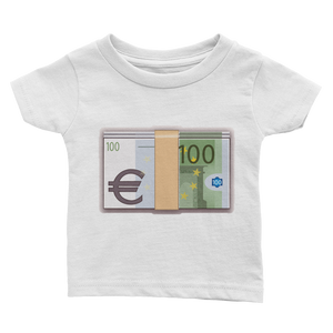 Emoji Baby T-Shirt - Banknote With Euro Sign-Just Emoji