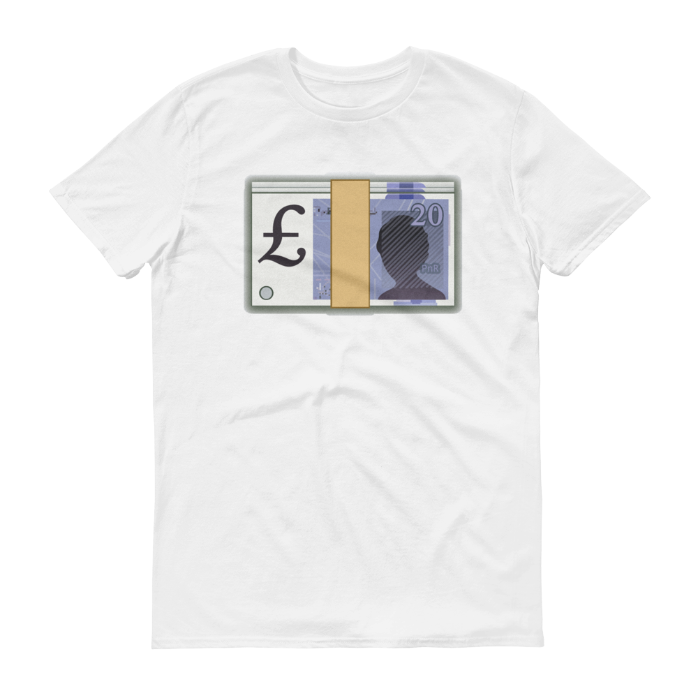 Men's Emoji T-Shirt - Banknote With Pound Sign-Just Emoji