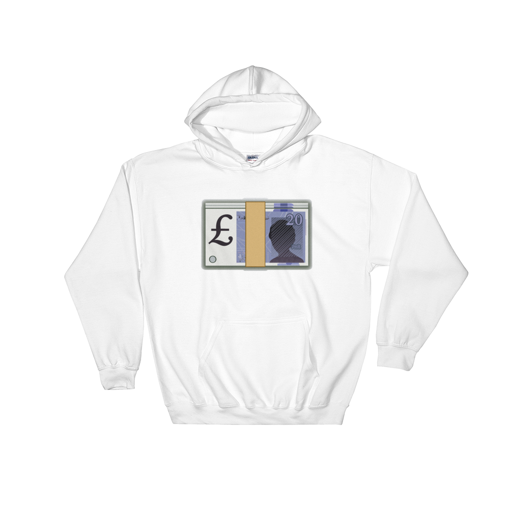 Emoji Hoodie - Banknote With Pound Sign-Just Emoji