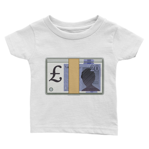 Emoji Baby T-Shirt - Banknote With Pound Sign-Just Emoji