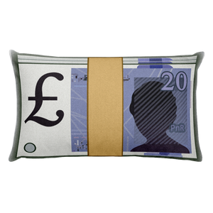 Emoji Bed Pillow - Banknote With Pound Sign-Just Emoji
