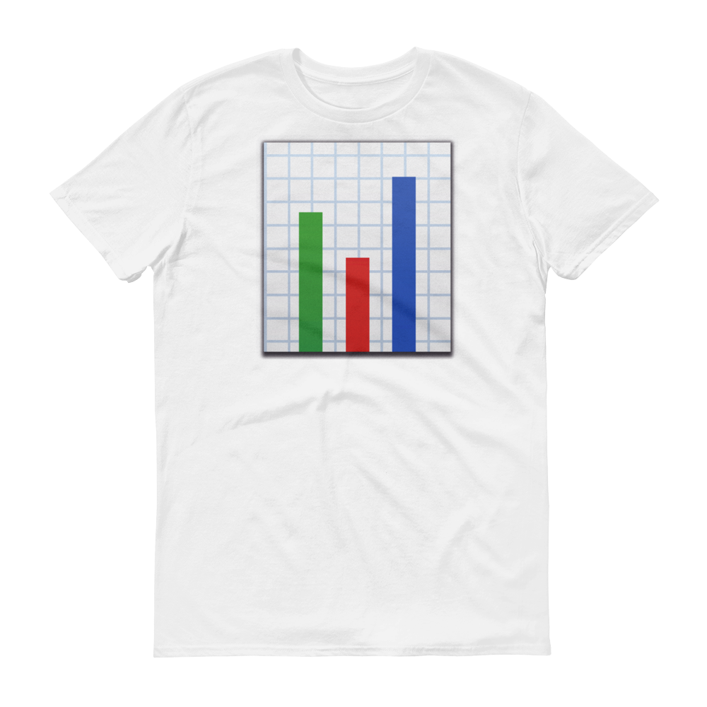 Men's Emoji T-Shirt - Bar Chart-Just Emoji