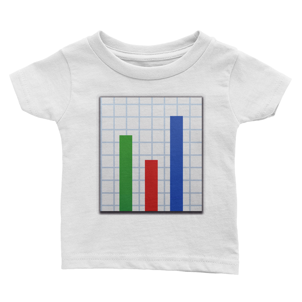 Emoji Baby T-Shirt - Bar Chart-Just Emoji