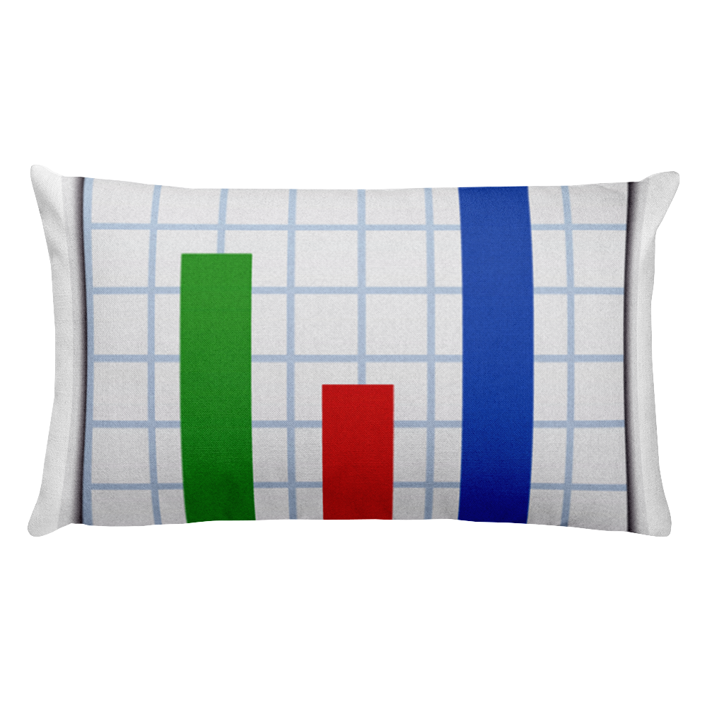 Emoji Bed Pillow - Bar Chart-Just Emoji