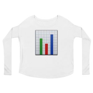 Women's Emoji Long Sleeve T-Shirt - Bar Chart-Just Emoji