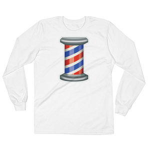 Men's Emoji Long Sleeve T-Shirt - Barber Pole-Just Emoji