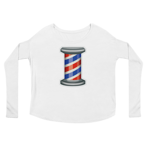 Women's Emoji Long Sleeve T-Shirt - Barber Pole-Just Emoji