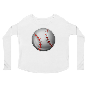Women's Emoji Long Sleeve T-Shirt - Baseball-Just Emoji