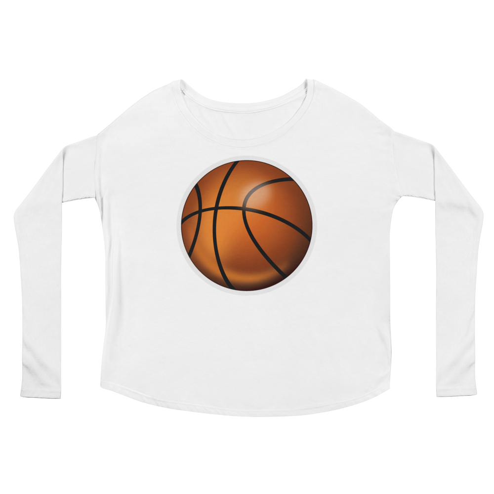 Women's Emoji Long Sleeve T-Shirt - Basketball-Just Emoji