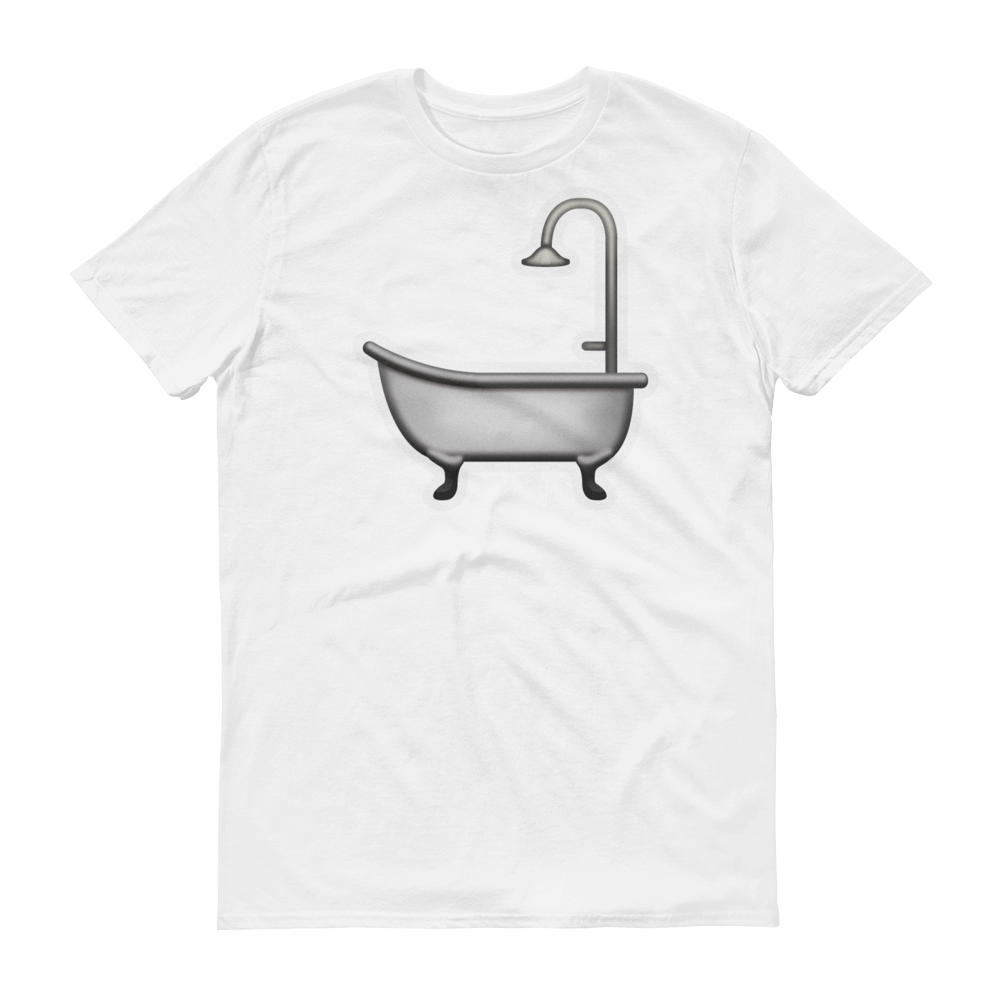 Men's Emoji T-Shirt - Bathtub-Just Emoji