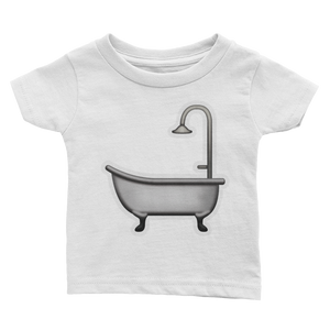 Emoji Baby T-Shirt - Bathtub-Just Emoji