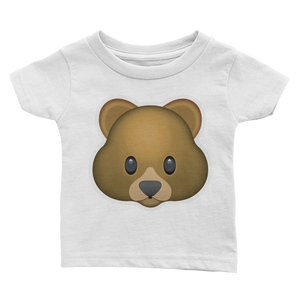Emoji Baby T-Shirt - Bear Face-Just Emoji