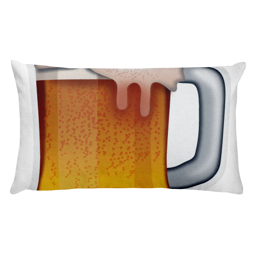 Emoji Bed Pillow - Beer Mug-Just Emoji