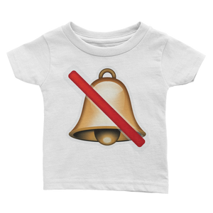 Emoji Baby T-Shirt - Bell With Cancellation Stroke-Just Emoji
