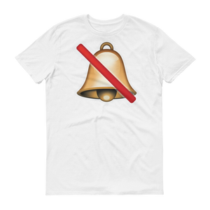 Men's Emoji T-Shirt - Bell With Cancellation Stroke-Just Emoji