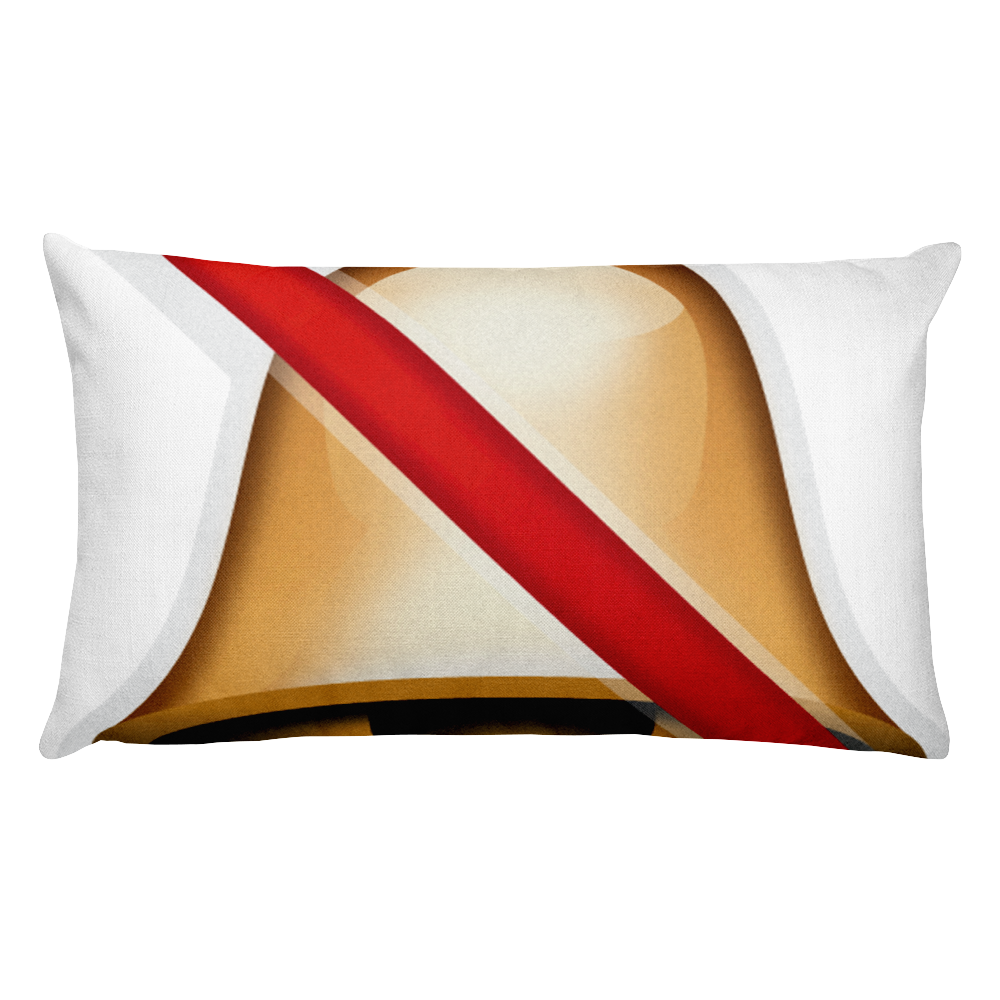 Emoji Bed Pillow - Bell With Cancellation Stroke-Just Emoji